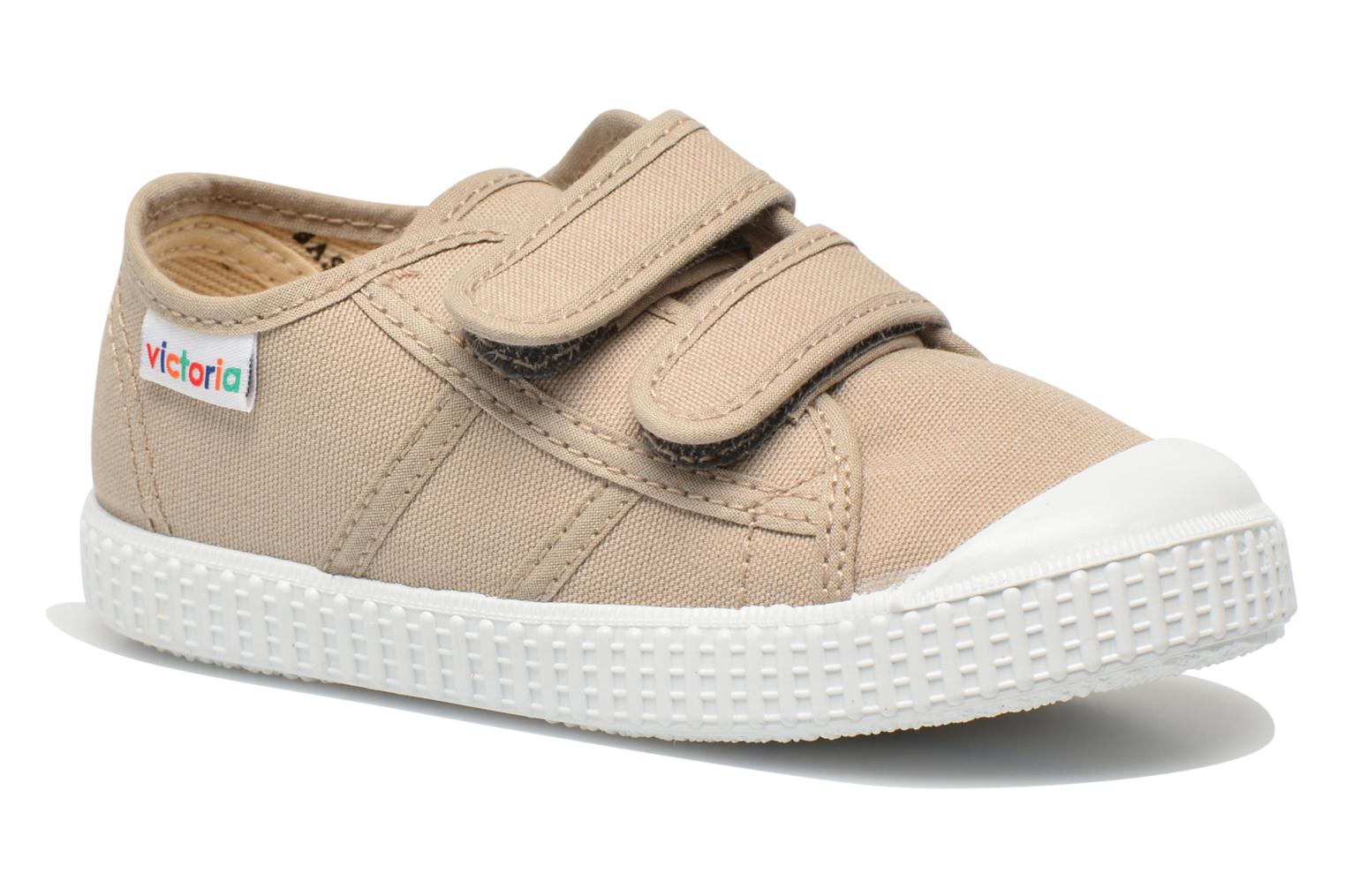 Trainers Victoria Basket lona Dos Velcos Beige detailed view/ Pair view