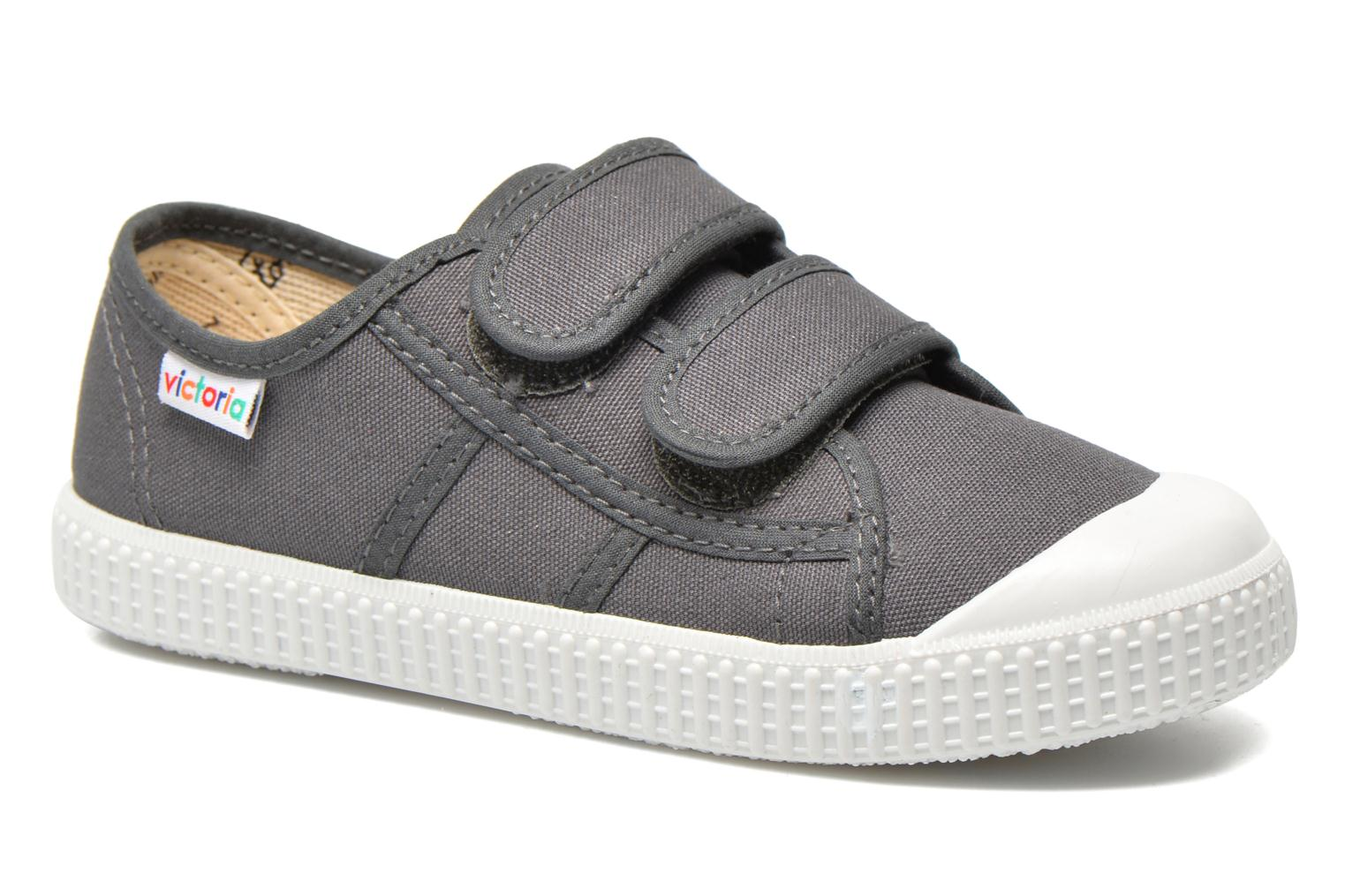 Trainers Victoria Basket lona Dos Velcos Grey detailed view/ Pair view