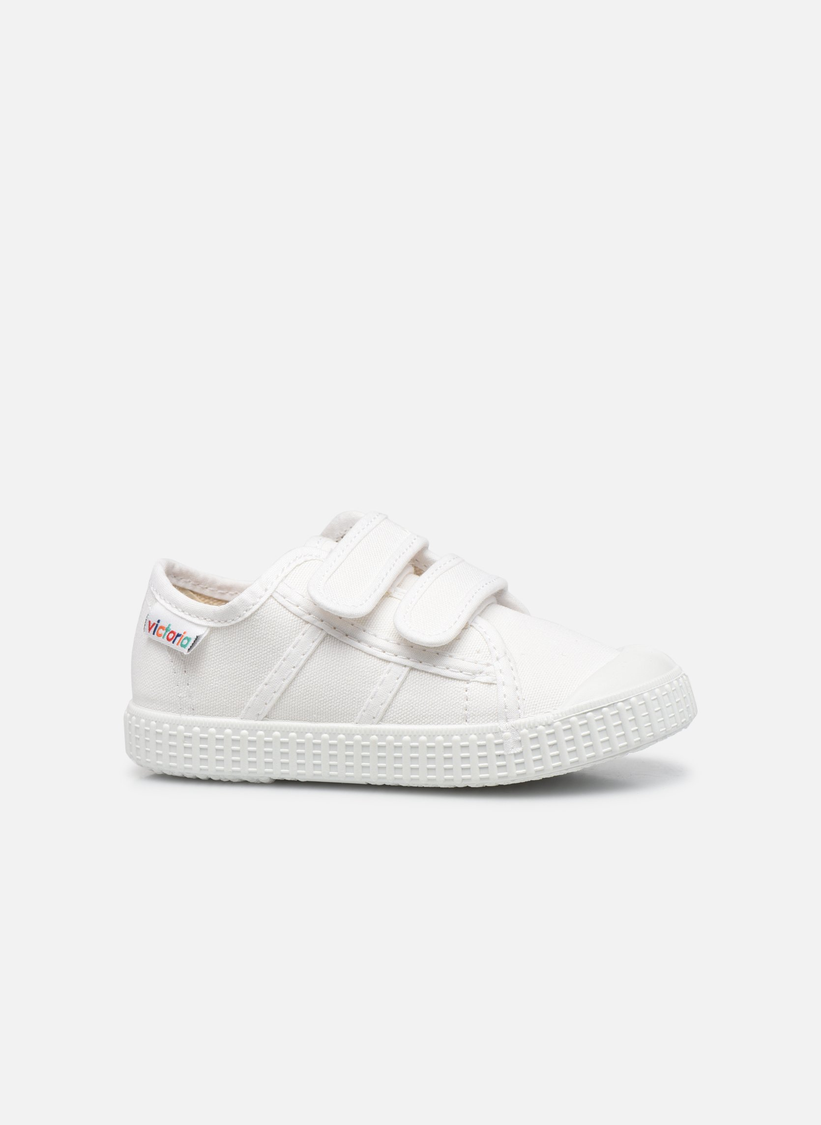 Trainers Victoria Basket lona Dos Velcos White back view