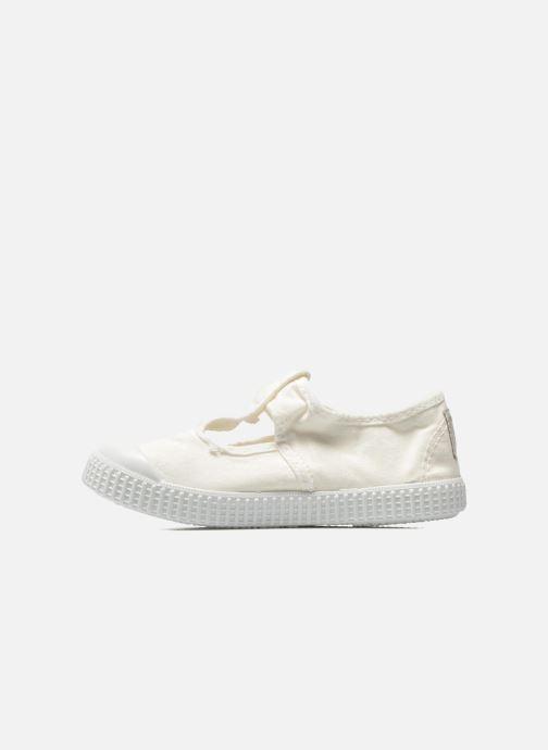 Sneakers Victoria Sandalia Lona Tintada Velcr Hvid se forfra