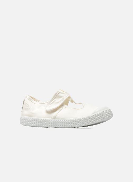 Sneakers Victoria Sandalia Lona Tintada Velcr Hvid se bagfra