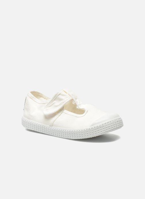 Sneakers Victoria Sandalia Lona Tintada Velcr Hvid detaljeret billede af skoene