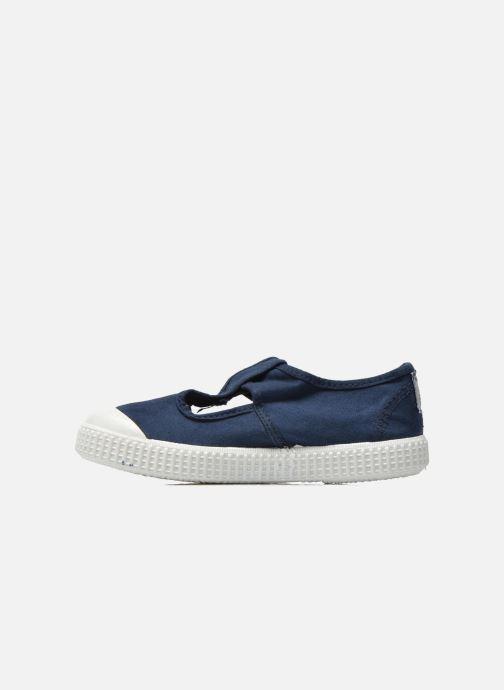 Sneakers Victoria Sandalia Lona Tintada Velcr Blauw voorkant