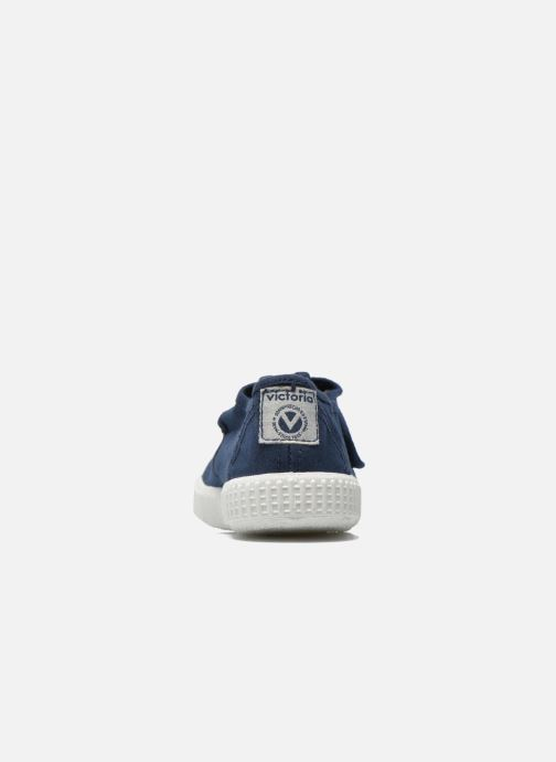 Sneakers Victoria Sandalia Lona Tintada Velcr Blauw rechts