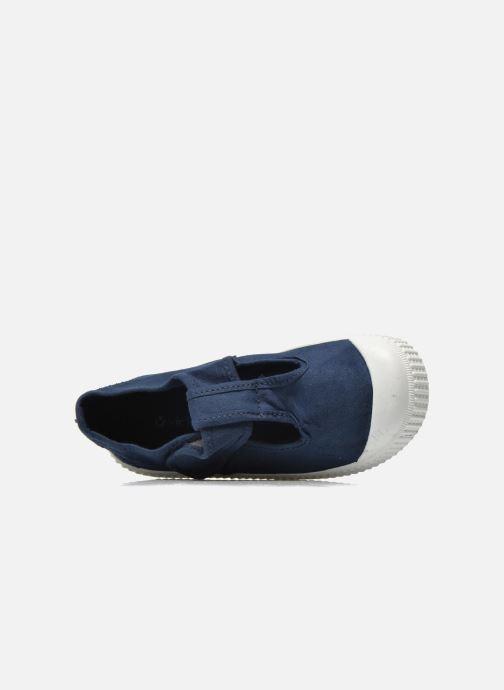 Sneakers Victoria Sandalia Lona Tintada Velcr Azzurro immagine sinistra