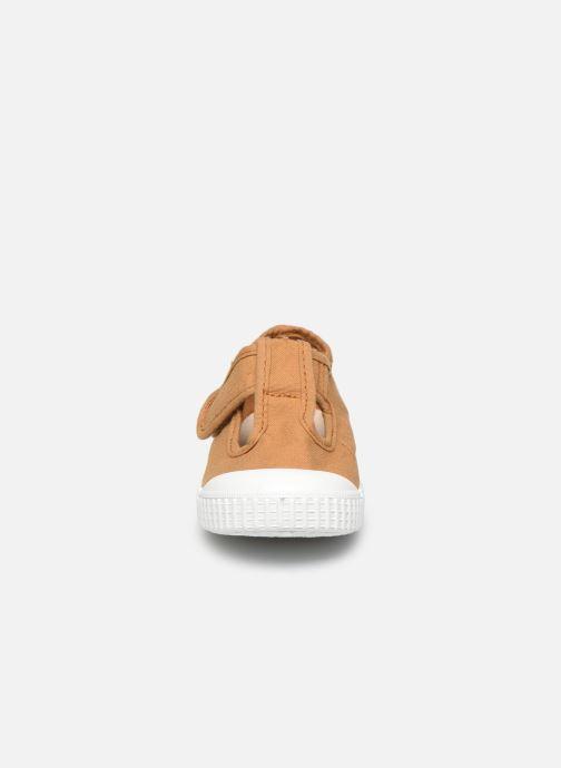 Baskets Victoria Sandalia Lona Tintada Velcr Marron vue portées chaussures