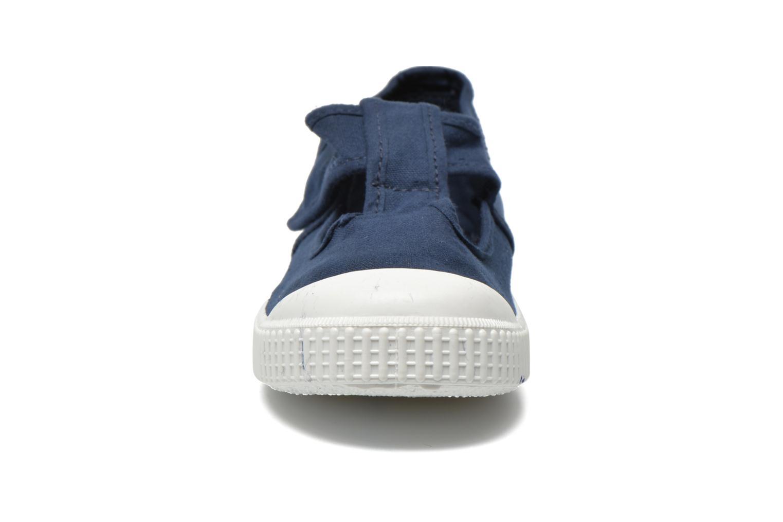 Baskets Victoria Sandalia Lona Tintada Velcr Bleu vue portées chaussures