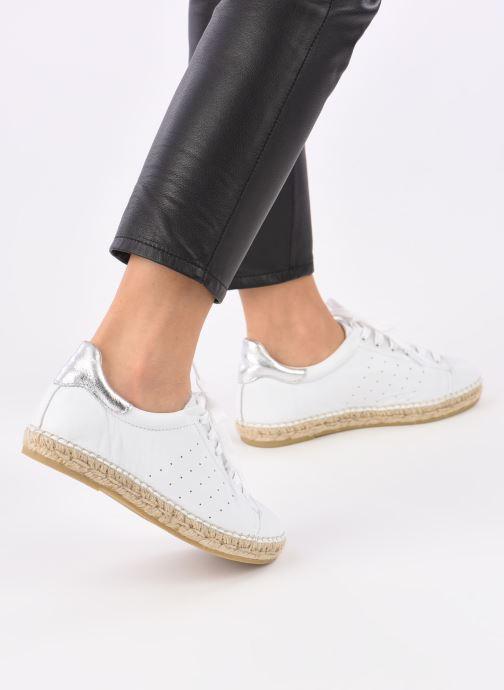 Sneaker La maison de l'espadrille Baskets 1035 weiß ansicht von unten / tasche getragen