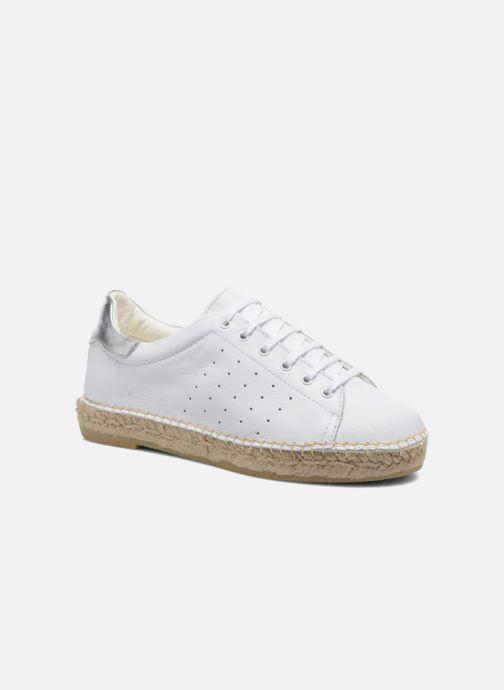 Sneakers La maison de l'espadrille Baskets 1035 Wit detail