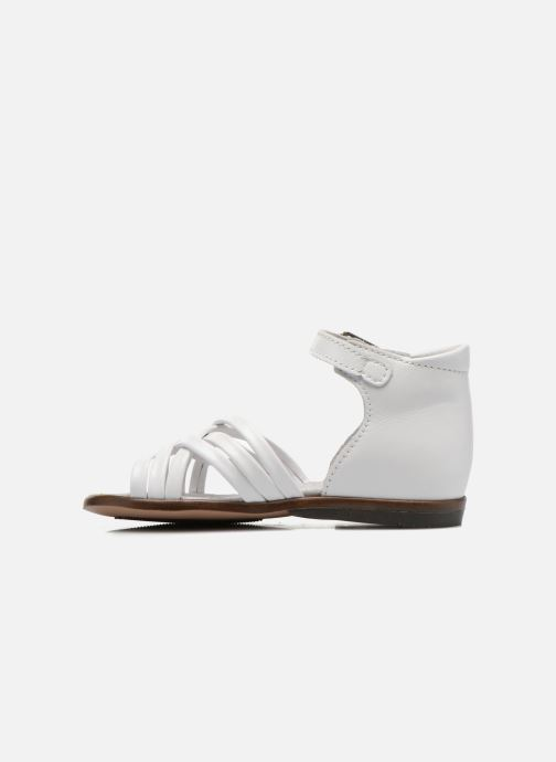 Sandales et nu-pieds Little Mary Virginia Blanc vue face