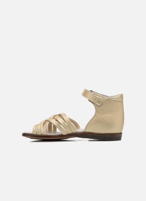 Sandales et nu-pieds Little Mary Virginia Or et bronze vue face