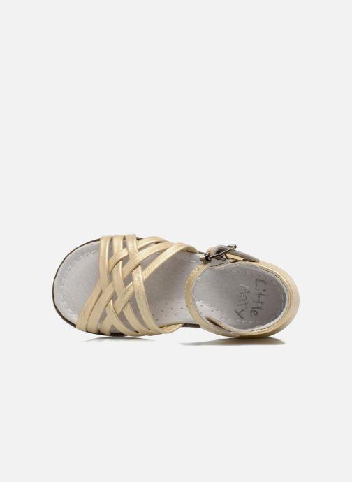 Sandales et nu-pieds Little Mary Virginia Or et bronze vue gauche