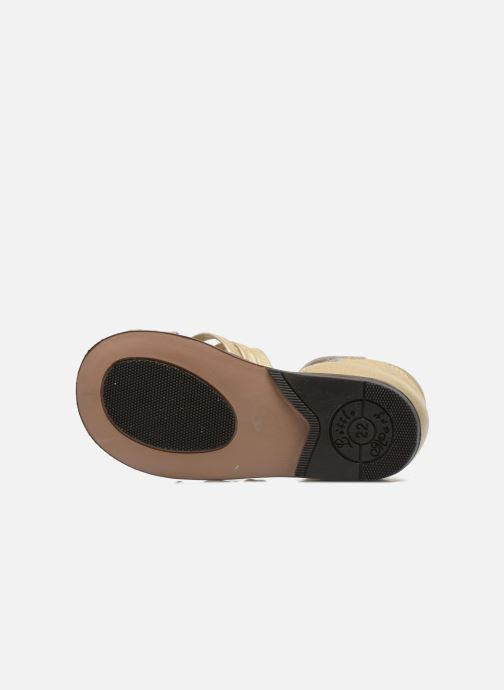 Sandales et nu-pieds Little Mary Virginia Or et bronze vue haut