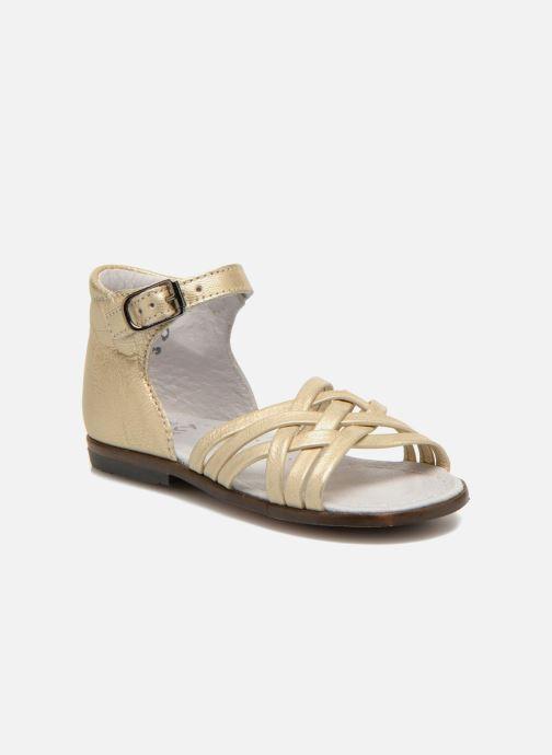 Sandales et nu-pieds Little Mary Virginia Or et bronze vue détail/paire