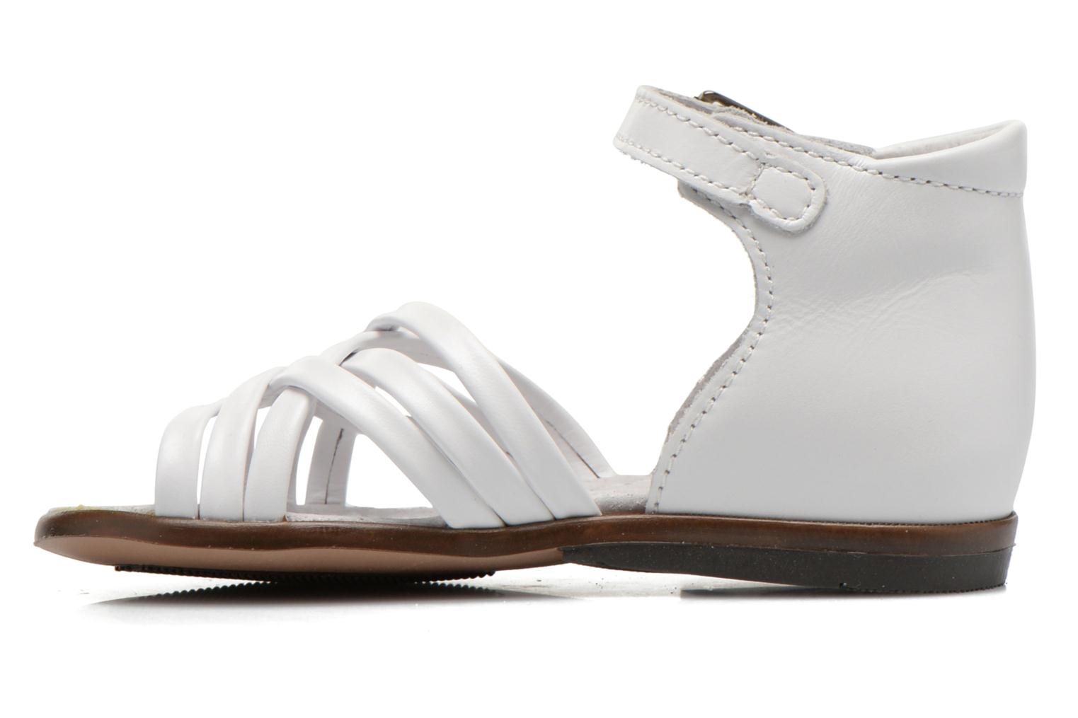 Sandals Little Mary Virginia White front view