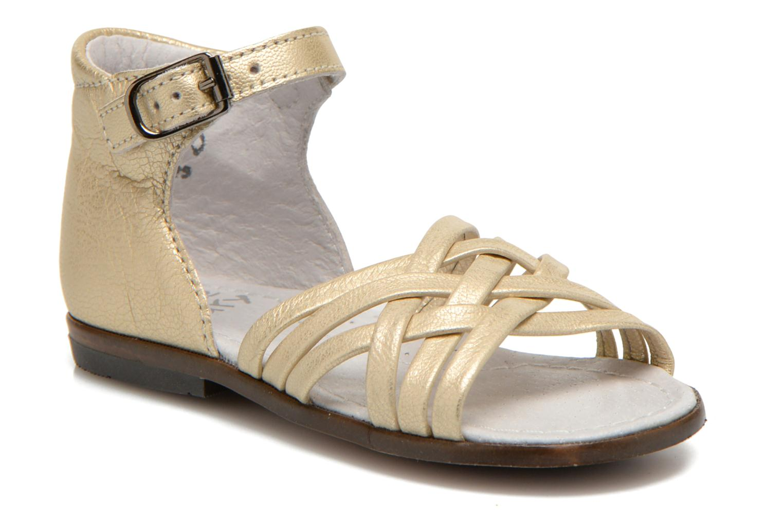 Sandals Little Mary Virginia Bronze and Gold detailed view/ Pair view