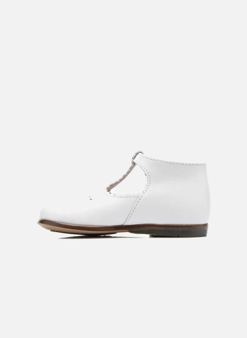 Botines de verano Little Mary Floriane Blanco vista de frente