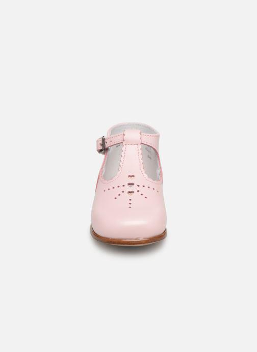 Bottines d'été Little Mary Floriane Rose vue portées chaussures