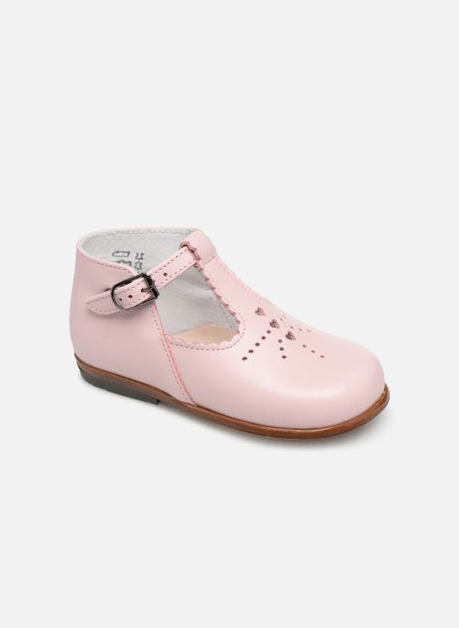 Bottines d'été Little Mary Floriane Rose vue détail/paire