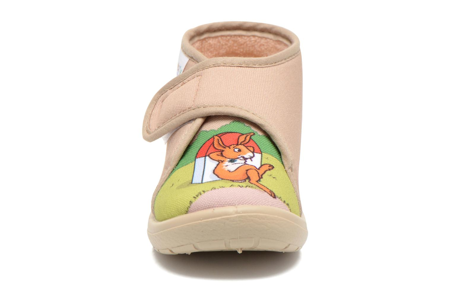 Chaussons Little Mary Vtortue Beige vue portées chaussures