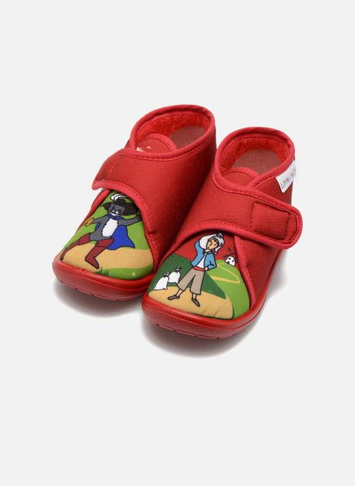 Chaussons Little Mary Vchat Rouge vue 3/4