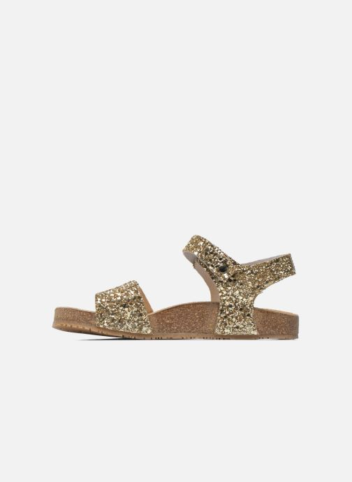 Sandales et nu-pieds Acebo's Marta Or et bronze vue face