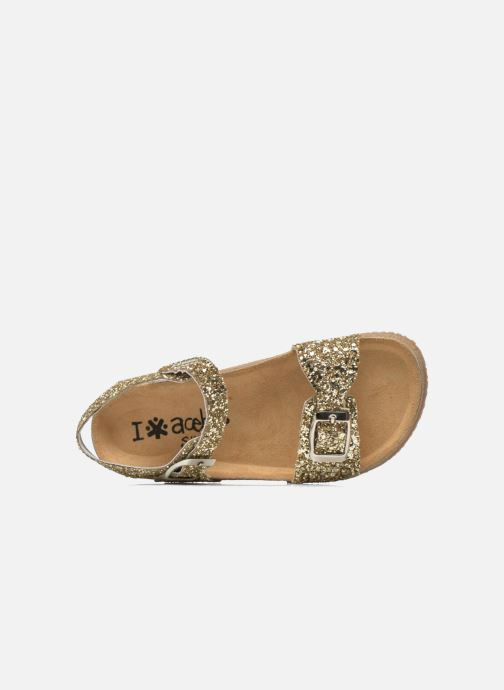 Sandales et nu-pieds Acebo's Marta Or et bronze vue gauche