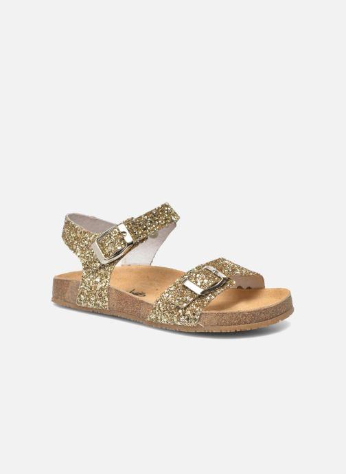 Sandales et nu-pieds Acebo's Marta Or et bronze vue détail/paire
