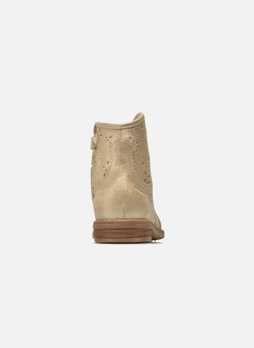 Ankle boots Acebo's Nerea Bronze and Gold view from the right