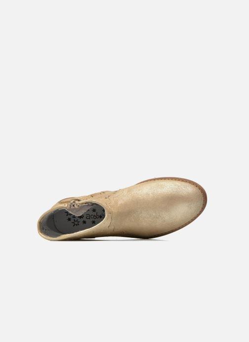 Bottines et boots Acebo's Nerea Or et bronze vue gauche