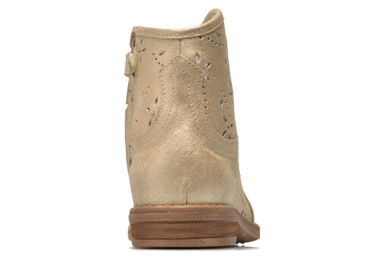 Bottines et boots Acebo's Nerea Or et bronze vue droite