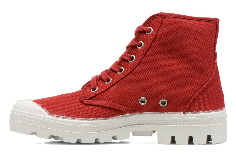 Chaussures à lacets Aigle Rubber Saint Germain W Rouge vue face