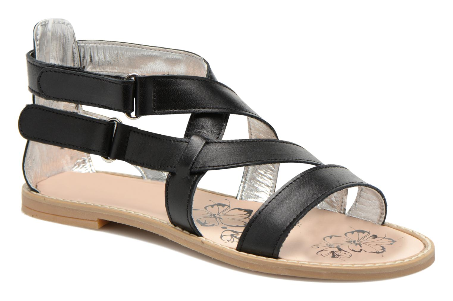 Sandals Primigi Zelie-E Black detailed view/ Pair view