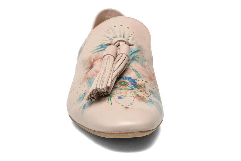 Mocassins Fratelli Rossetti Hobo Beige vue portées chaussures