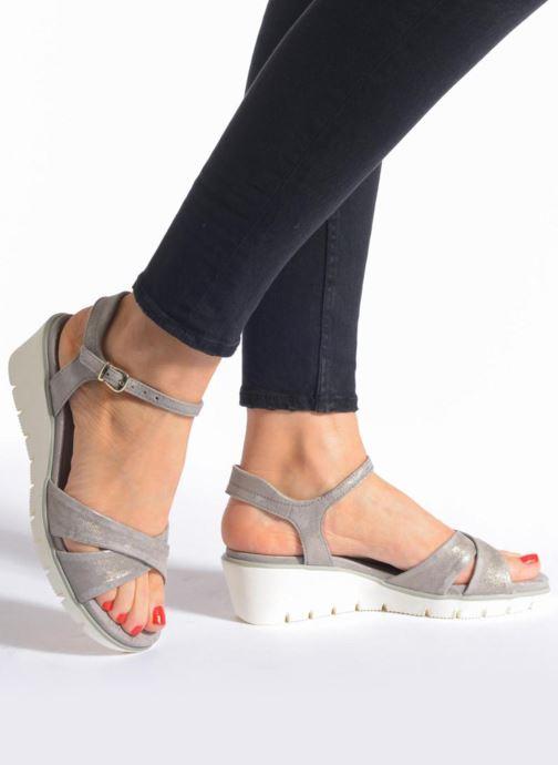 Sandales et nu-pieds Ara Mars Bleu vue bas / vue portée sac