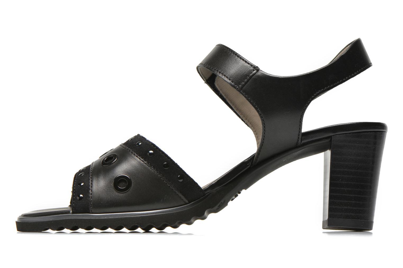 Sandales et nu-pieds Ara Gresa Noir vue face
