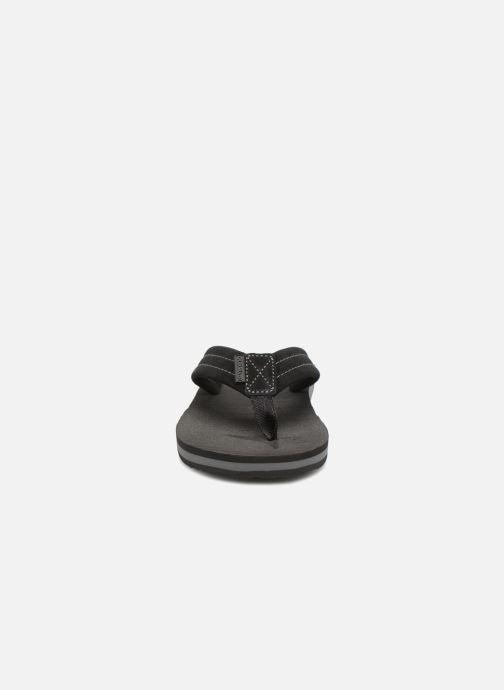 Tongs Quiksilver Carver Suede Noir vue portées chaussures
