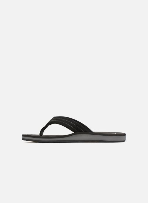 Flip flops Quiksilver Carver Suede Black front view