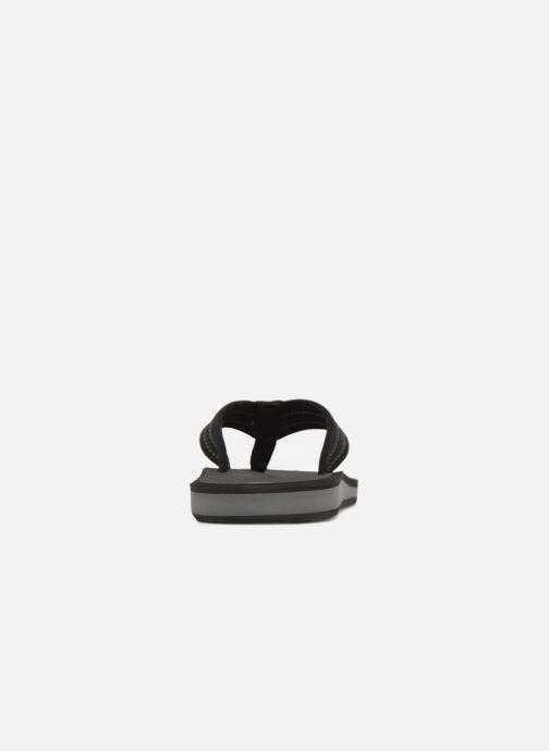 Flip flops Quiksilver Carver Suede Black view from the right