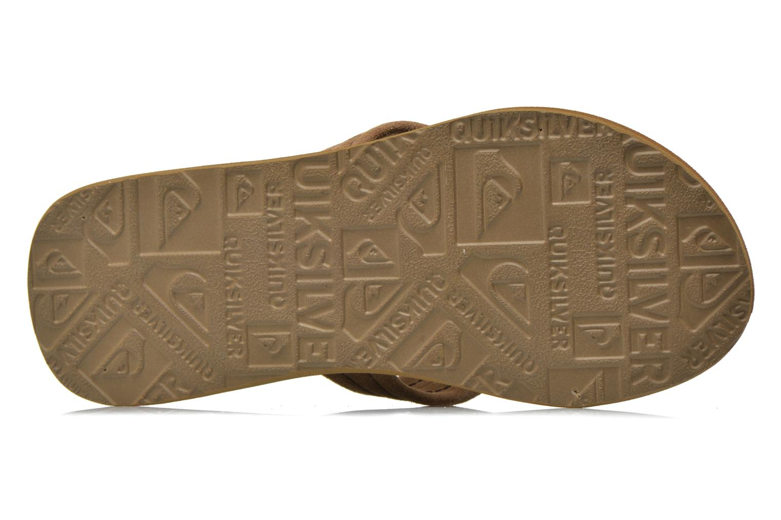 Flip flops Quiksilver Carver Suede Brown view from above