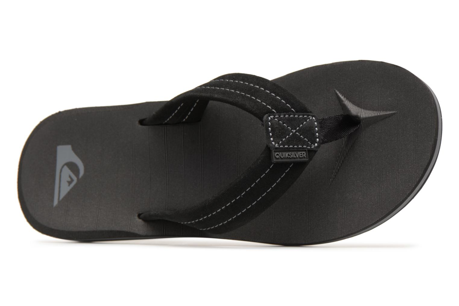 Flip flops Quiksilver Carver Suede Black view from the left