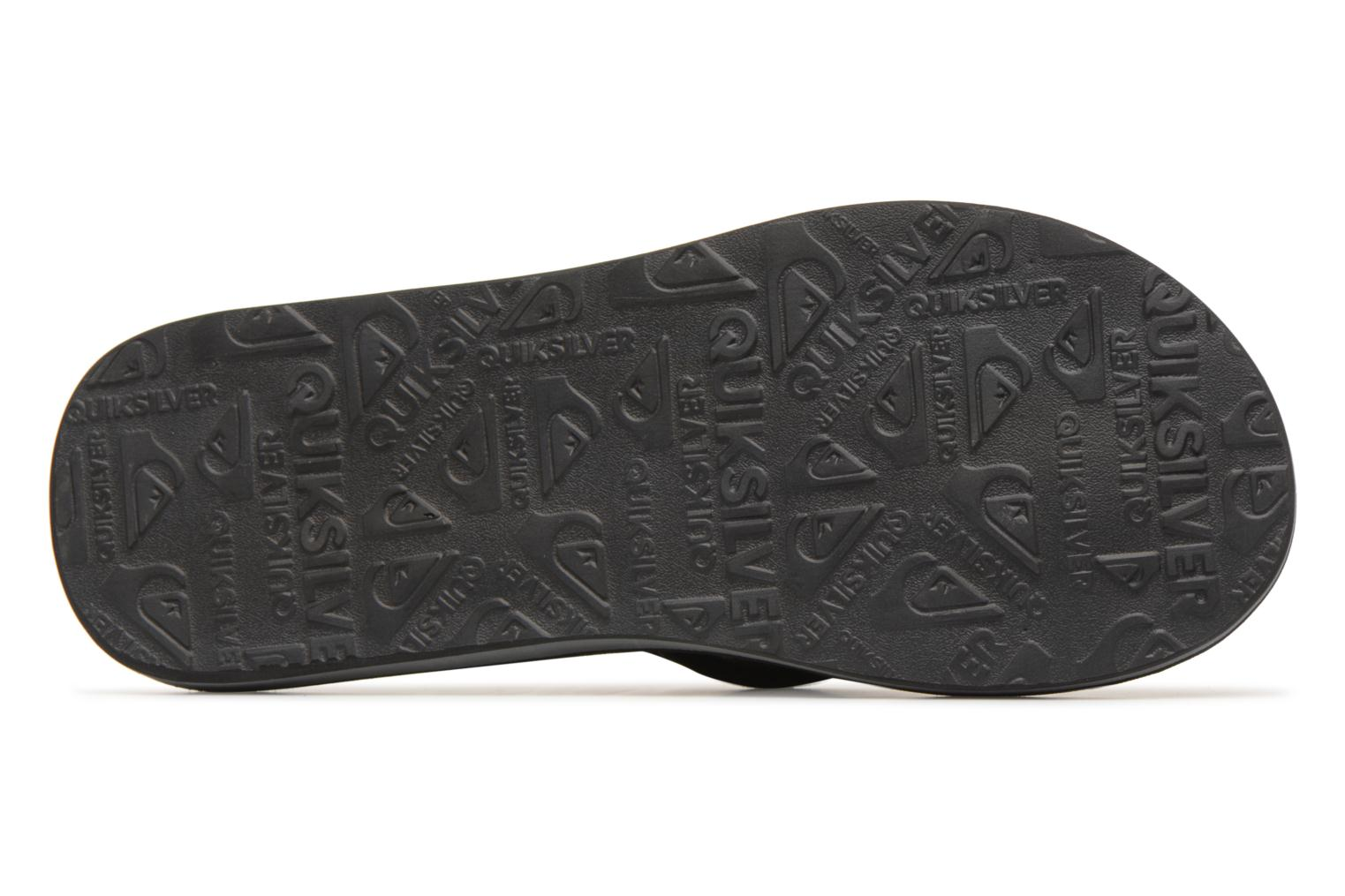 Flip flops Quiksilver Carver Suede Black view from above