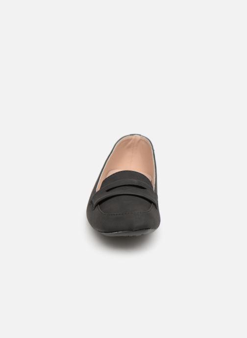 Mocassins Isotoner Ballerines bout carré mocassin talon 1cm Noir vue portées chaussures