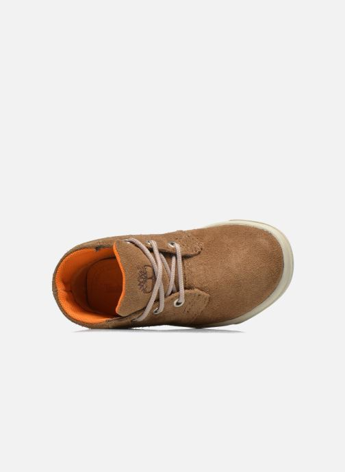 Chaussures à lacets Timberland Lace Chukka Marron vue gauche