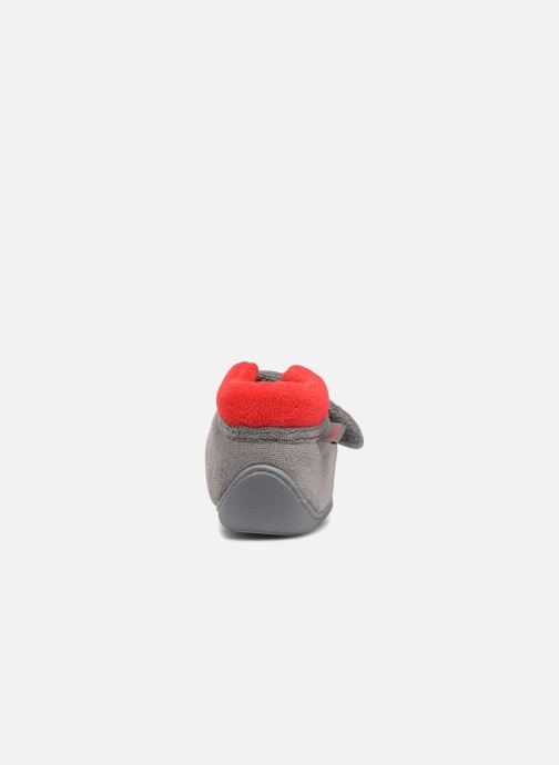 Pantoffels Isotoner Botillon Velcro Micro Éponge Grijs rechts