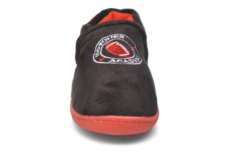 Chaussons Isotoner Mocassin Suédine Kids Noir vue portées chaussures