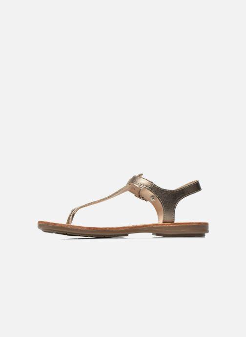 Sandals Minibel Klarice Bronze and Gold front view