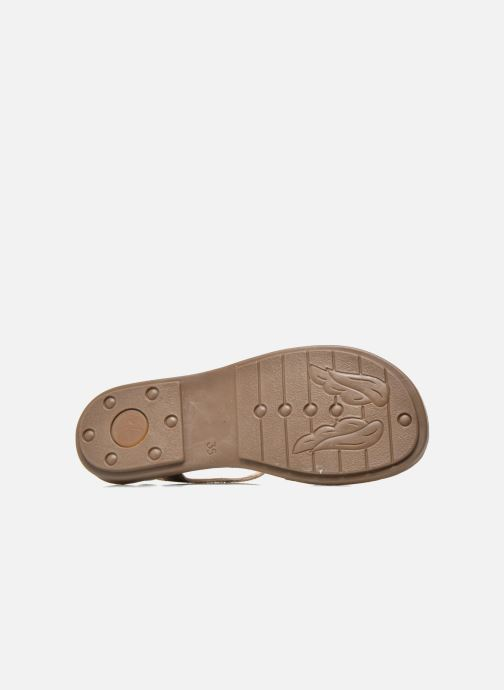 Sandals Minibel Klarice Bronze and Gold view from above
