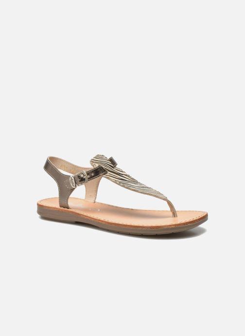 Sandals Minibel Klarice Bronze and Gold detailed view/ Pair view
