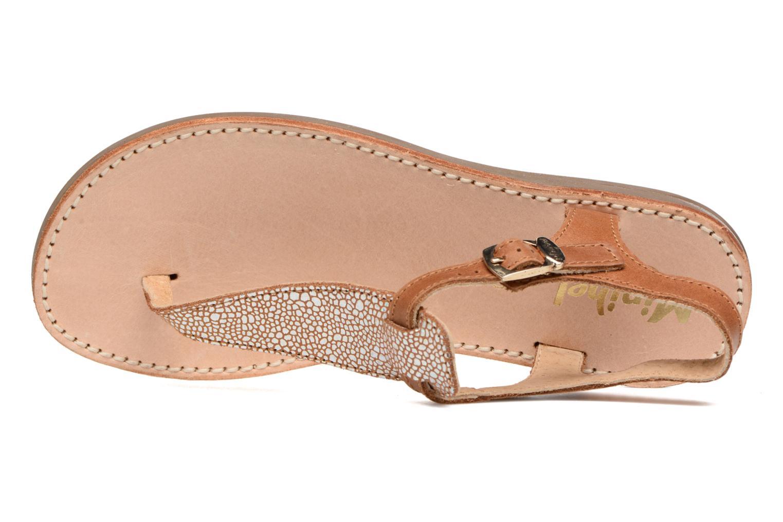 Sandali e scarpe aperte Minibel Klarice Marrone immagine sinistra